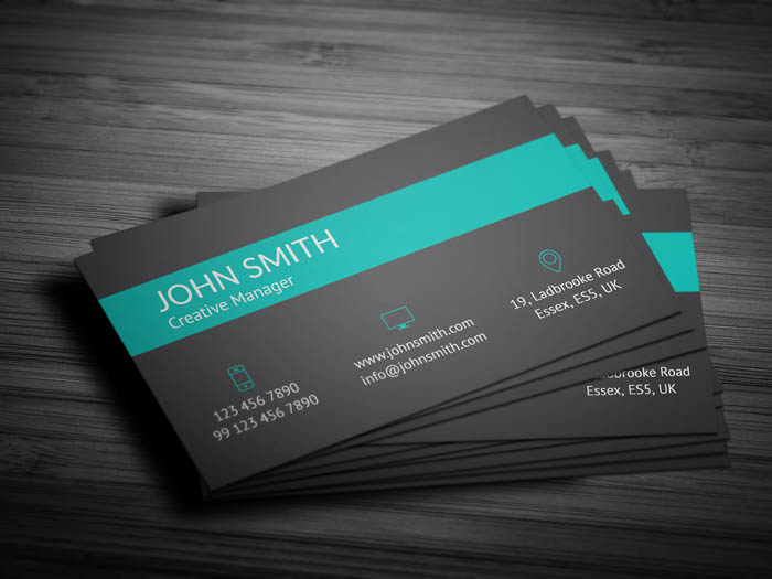 Modern Green Business Card - Back