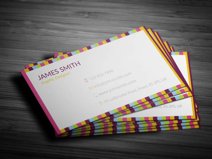 Colorful Business Card - Back