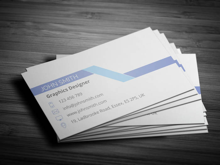 Light Grey Business Card - Back