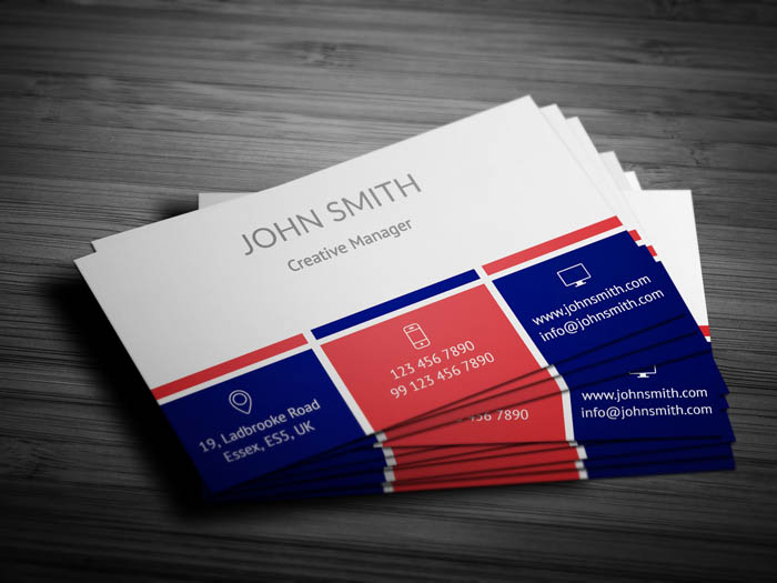 French Business Card - Back