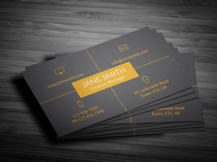 Free Social Media Manager Business Card Template - Social media business card template free