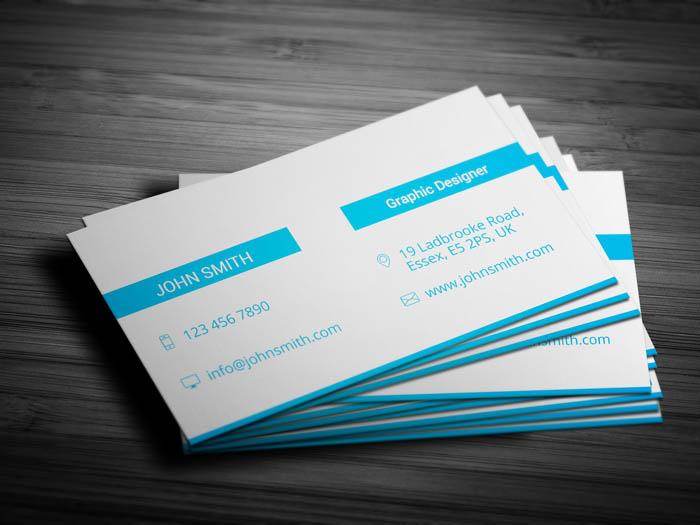 Minimal Entrepreneur Business Card - Back