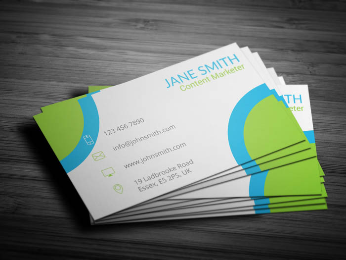 Content Marketer Business Card - Back