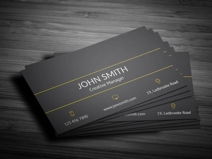 Modern Developer Business Card - Back