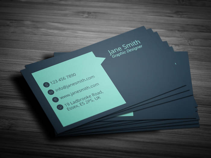 Sales Representative Business Card - Back