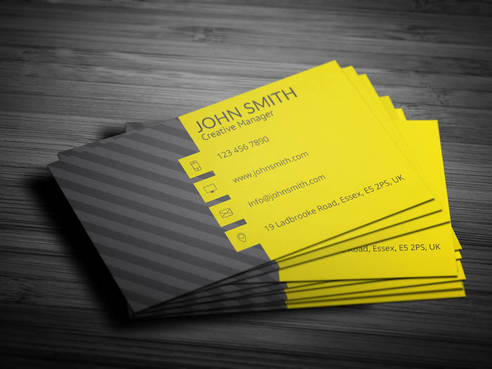 Media Business Card - Back