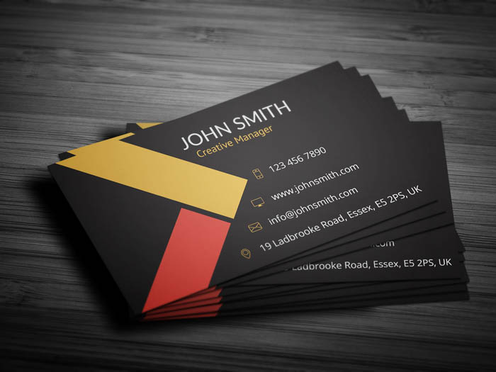 Classy Business Card - Back