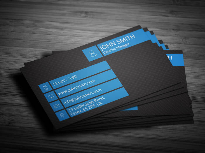 Modern Entrepreneur Business Card - Back