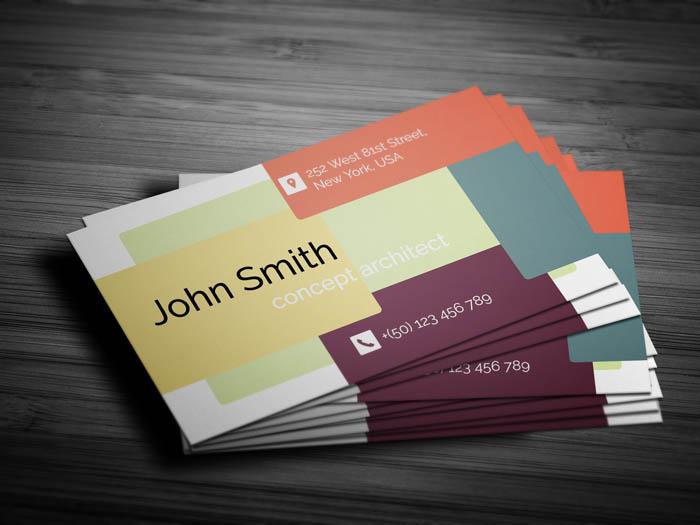 Fancy Architect Business Card - Back