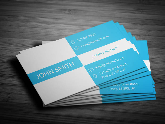 Trendy Business Card - Back