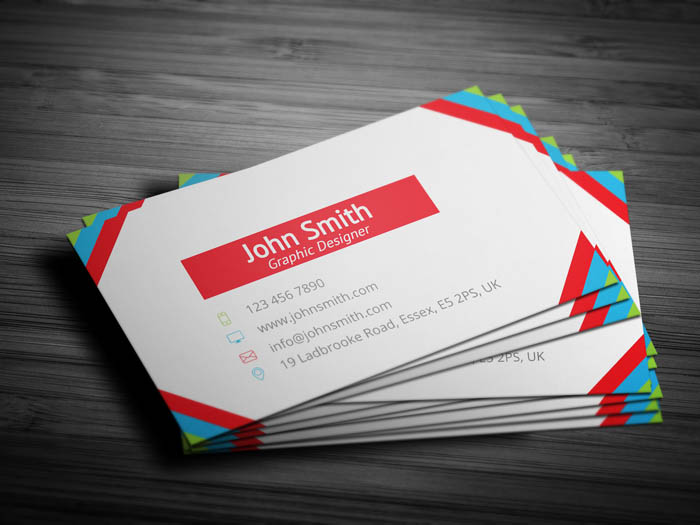 Female Actress Business Card - Back