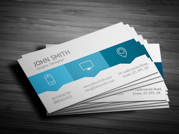 Blue Web Designer Business Card - Back