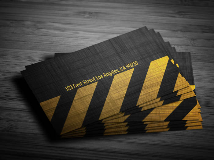 Grunge Construction Business Card - Back