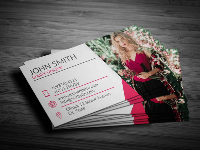 Professional Photographer Business Card - Back