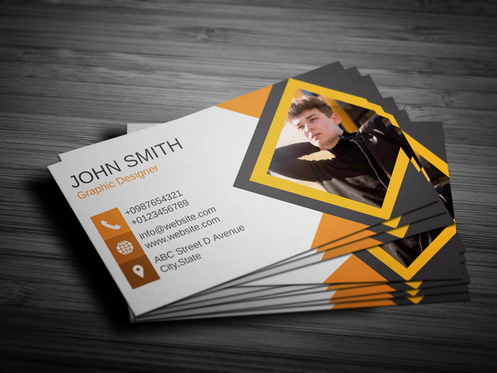 Journalist With Photo Business Card - Back