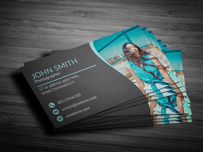 Cool Photographer Business Card - Back