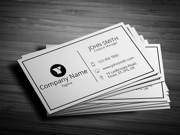 Manager Business Card - Back