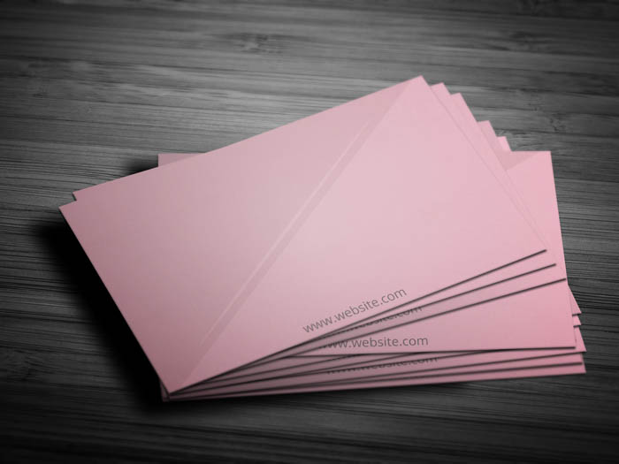 Pink Makeup Artist Business Card - Back