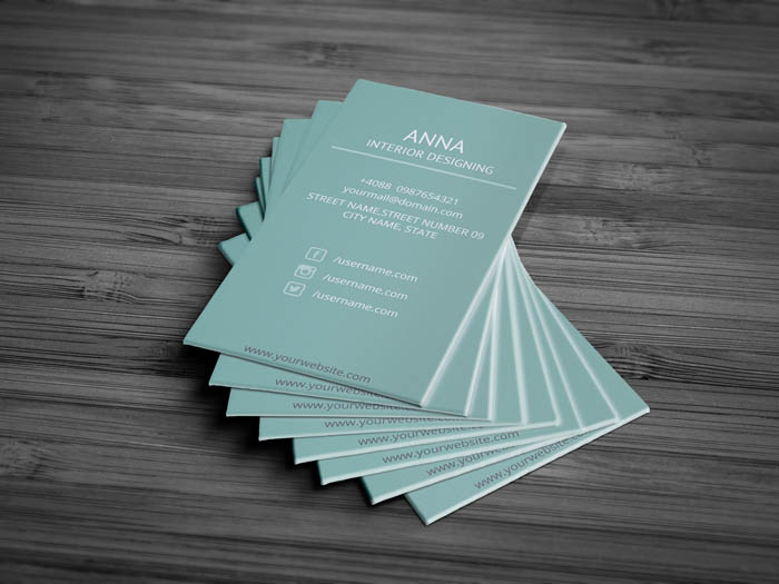 Interior Designing Business Card - Back