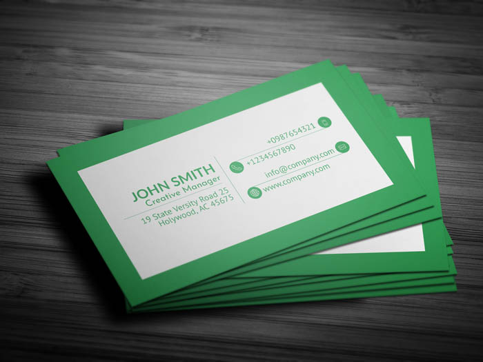 Green Business Card - Back