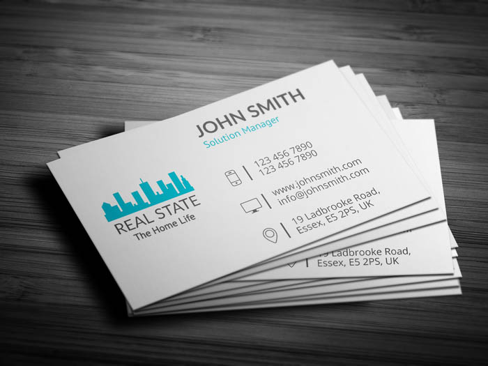 Real Estate Builder Business Card - Back