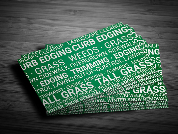 Lawn Care Service Business Card - Back