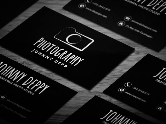 Free vintage photography business card template vintage photography business card reheart Choice Image