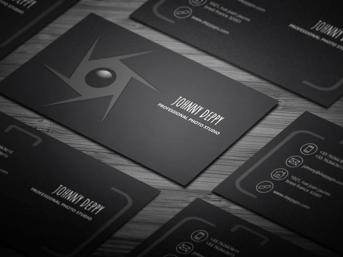 Unique Photographer Business Card