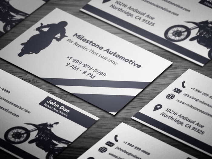 Auto Mechanic Business Card