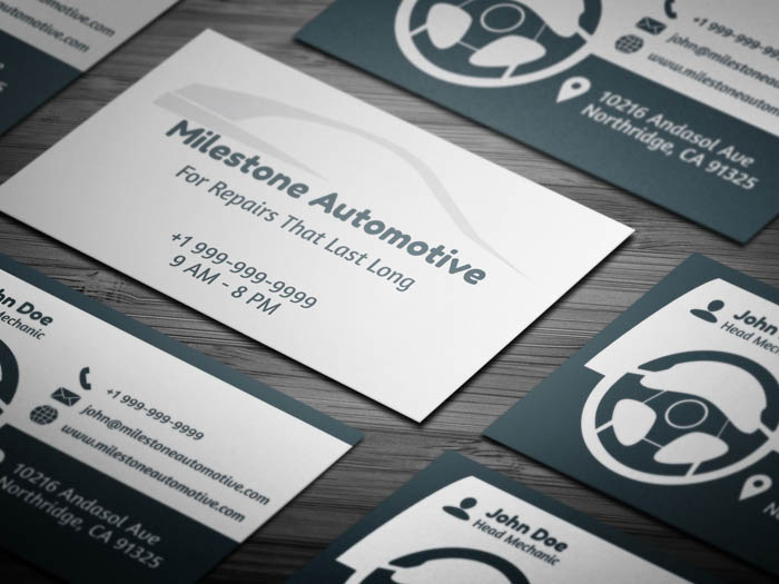 Free minimal mechanic business card template free auto detailing business card wajeb Gallery