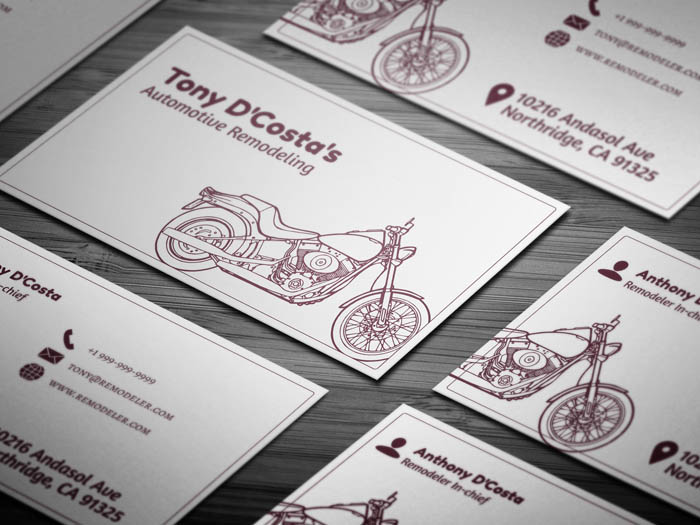 Auto Parts Business Card