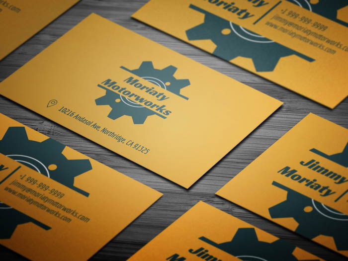 Free minimal mechanic business card template minimal mechanic business card flashek Gallery