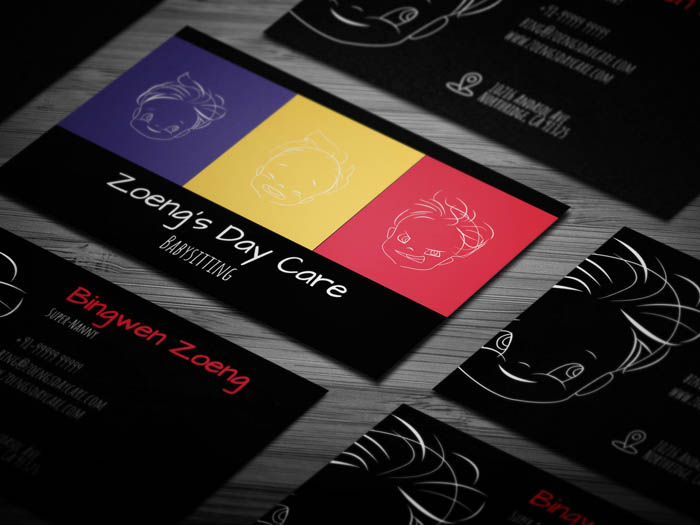 Free colorful babysitting business card template colorful babysitting business card flashek Gallery
