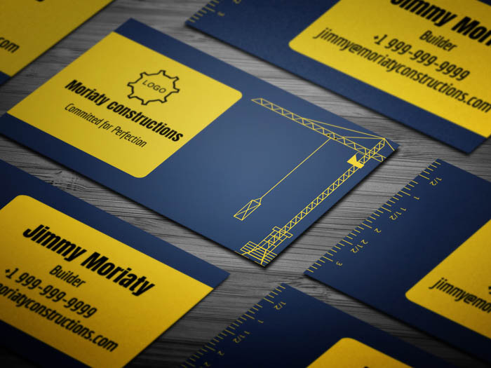 Heavy Equipment Business Card
