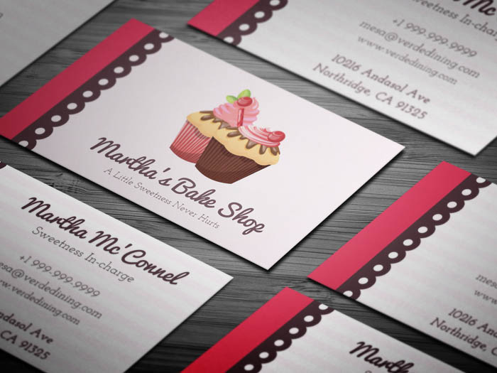 Sweets Bakery Business Card