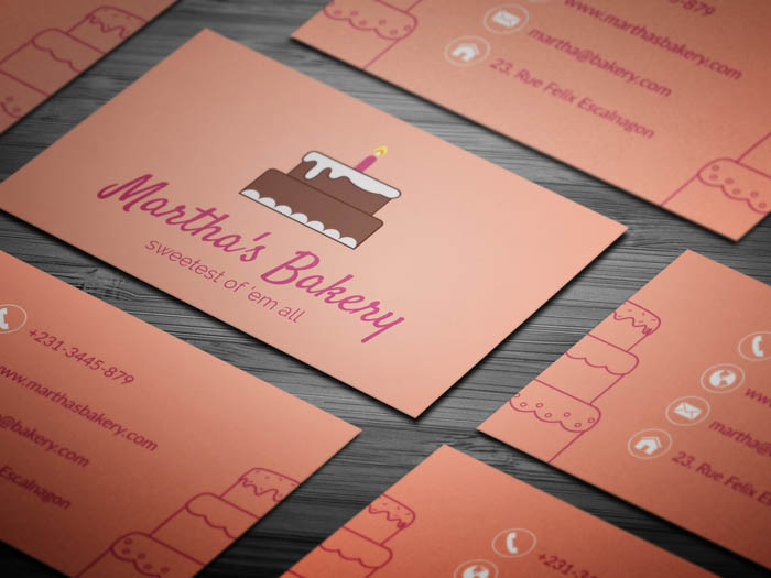 Free cake business card template free pastry business card flashek Image collections