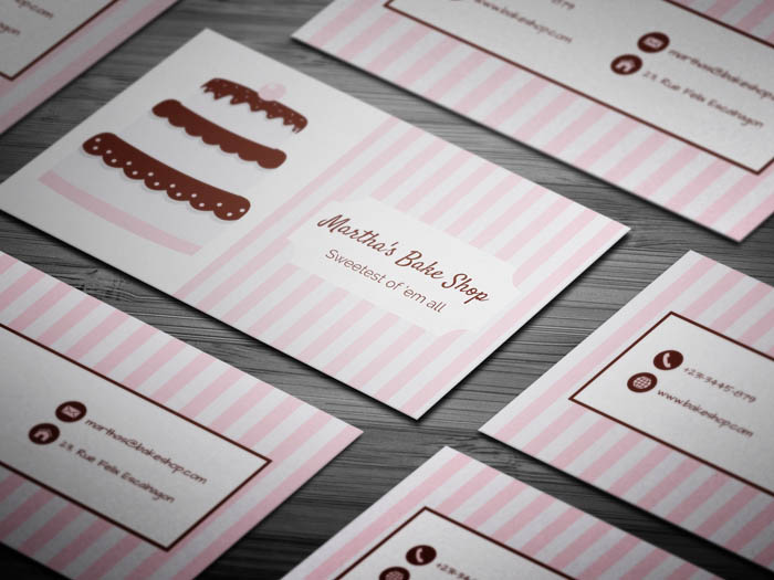 Unique Bakery Business Card
