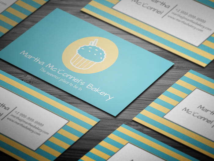Free cake business card template free baker business card accmission Gallery