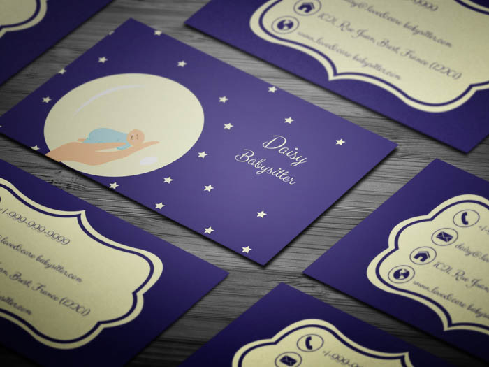 Twinkling Stars Child Care Business Card