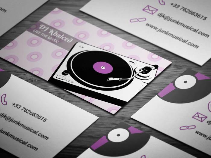 Vinyl Disk DJ Business Card