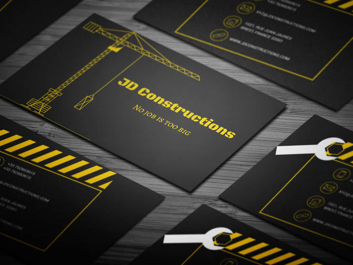 Free building construction business card template building construction business card colourmoves