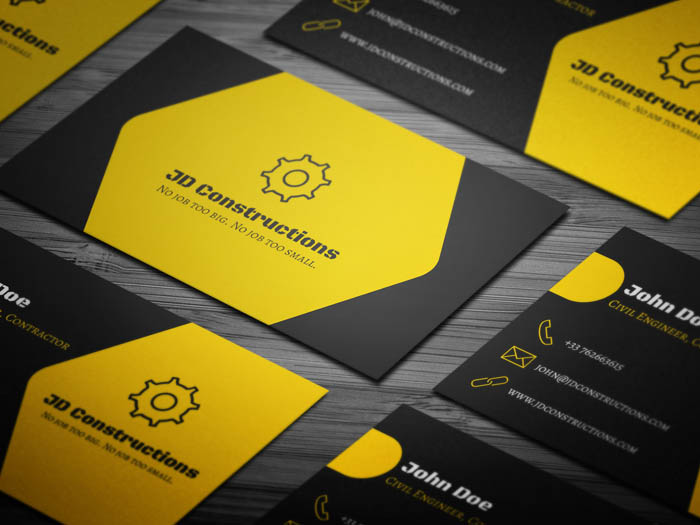 Free construction company business card template construction company business card colourmoves