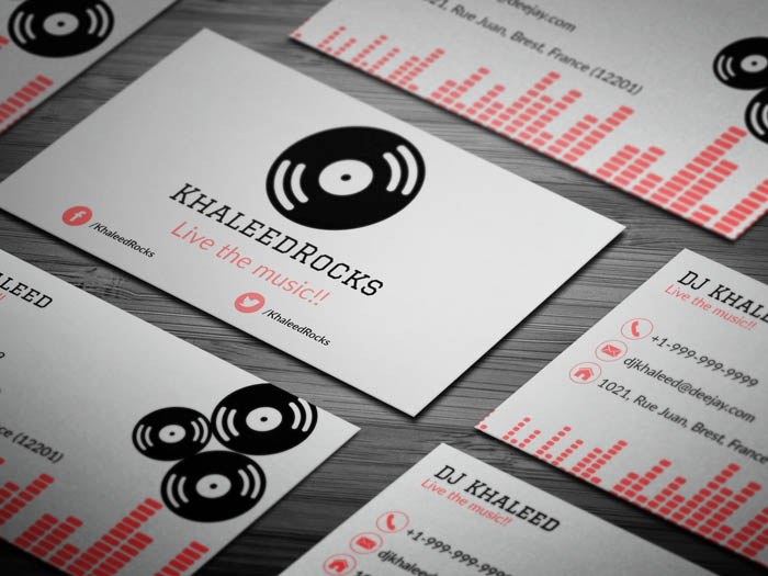 Dj Khaleed Business Card