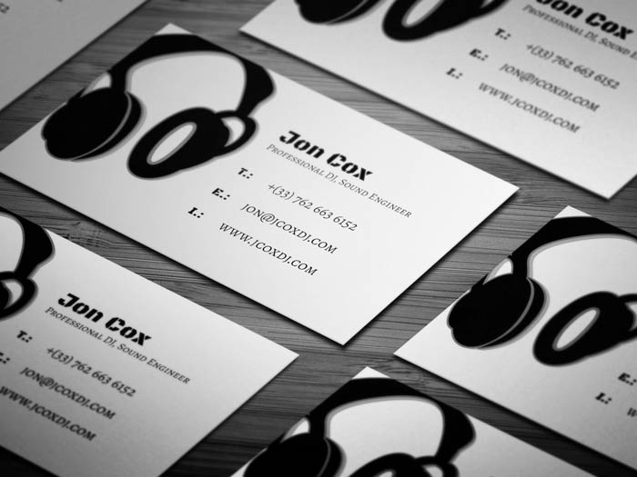 Music Production Business Card