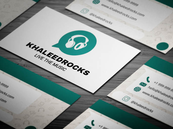 Whatsapp Themed Dj Business Card