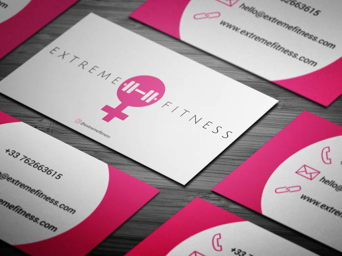 Female Trainer Business Card