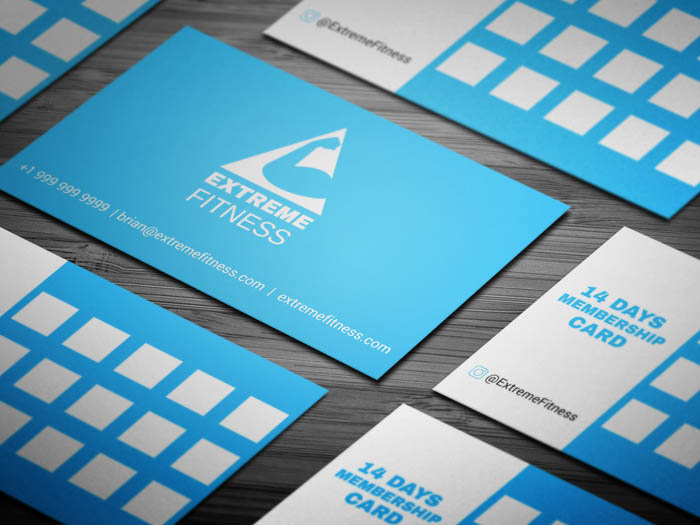 Fitness Club Membership Business Card