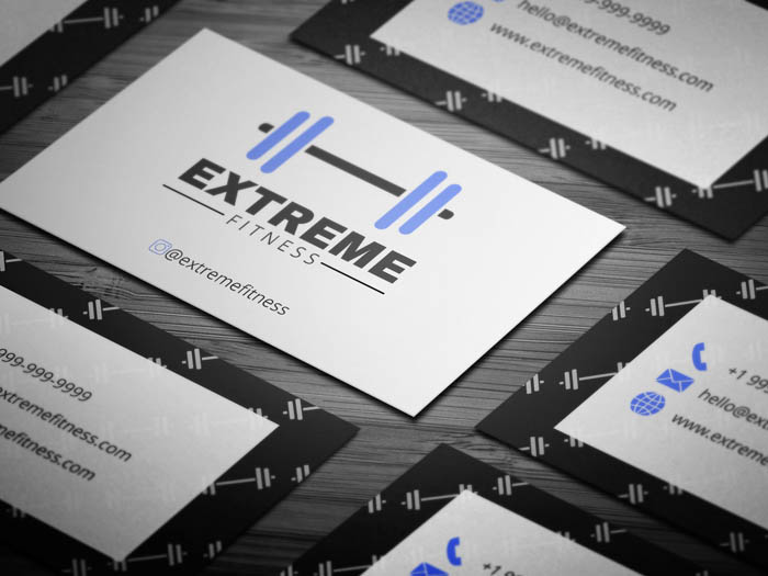 Gym Trainer Business Card