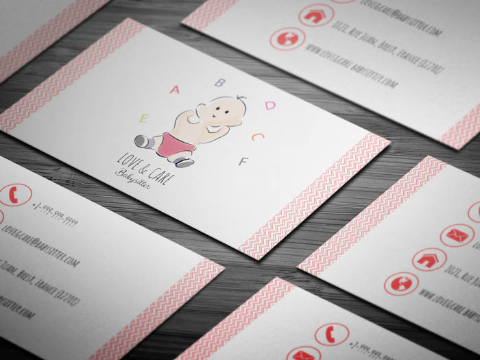 Super Cute Child Care Business Card