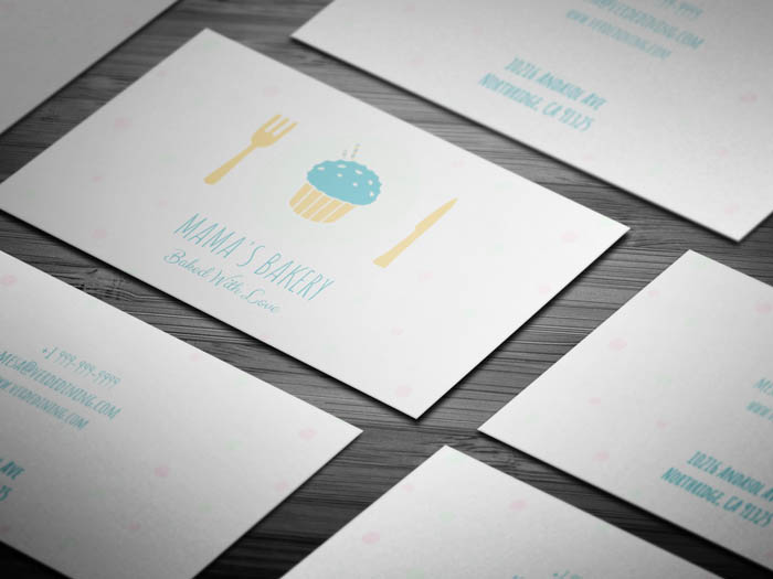 Cute Bakery Business Card